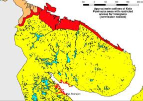 2018 restricted areas at Kola - White Sea area